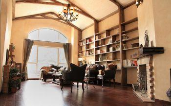 客厅咖啡色地板砖地中海风格效果图