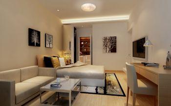 现代风格酒店式单身公寓住宅装修案例图