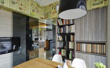 私人事务所办公室洽谈室书架装潢设计