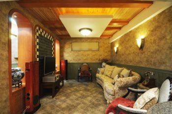 欧式混搭风格四居室装修效果图