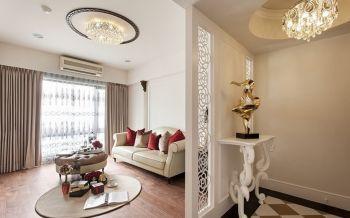 客厅白色隔断新古典风格装饰效果图