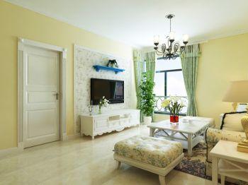 紫晶悦城两室一厅温馨田园装修效果图