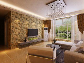 津尚花园H户型2室2厅田园风装修效果图