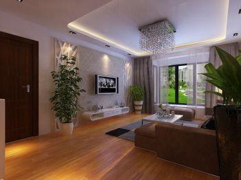 宝利国际广场一期7号楼A户型两室两厅简约装修效果图