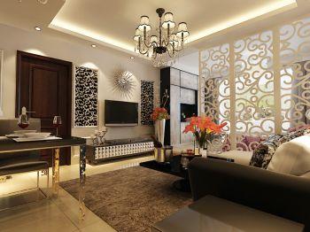 竹沁园G户型现代欧式风格一居室装修效果图