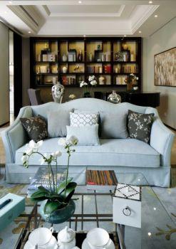 客厅博古架混搭风格装饰图片