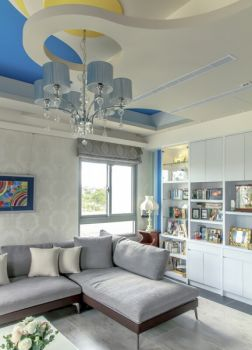 地中海混搭颜色搭配三居室装修效果图