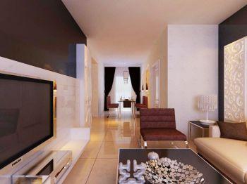 津门及第B户型3室2厅简约装修效果图