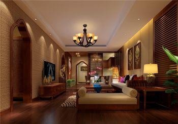 东南亚混搭风格精致三居装修效果图