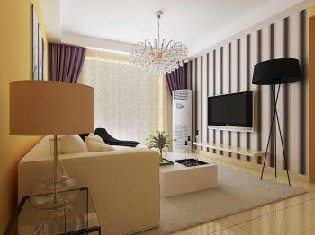 时尚靓丽简约风两室一厅装修效果图