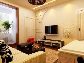 现代简约风一居室超小户型装修效果图