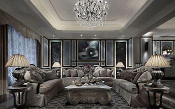 后现代古典风奢华三居室装修案例图