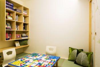 书房绿色榻榻米现代风格装潢图片