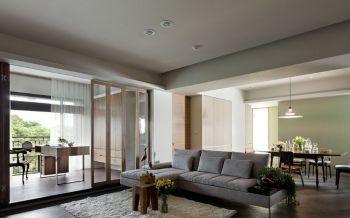 美新玫瑰现代之家三居装修效果图
