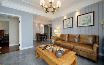 融创熙园美式风格三室两厅两卫装修效果图