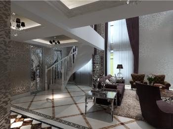 客厅楼梯简欧风格装饰效果图