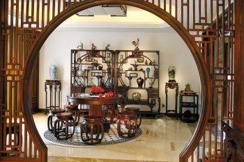 中式家具餐厅隔断装潢图