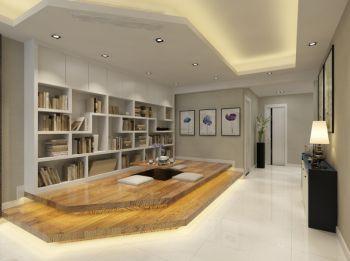 书房黄色榻榻米现代风格效果图