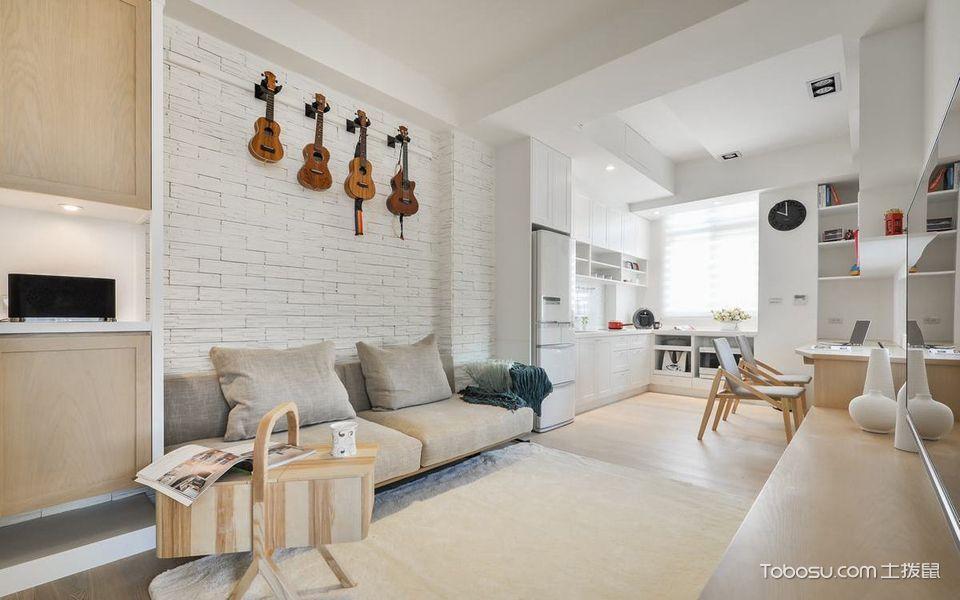 客厅 背景墙_盛世又一村北欧风小户型装修效果图