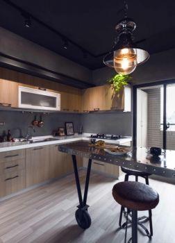 厨房吧台后现代风格装饰图片