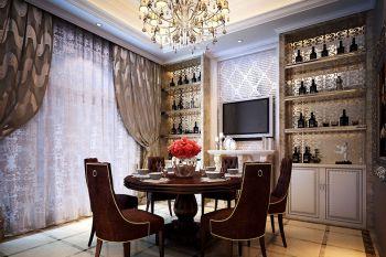 餐厅窗帘简欧风格装饰效果图