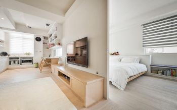 卧室隔断北欧风格装潢设计图片