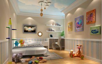 儿童房吊顶欧式田园风格装饰图片