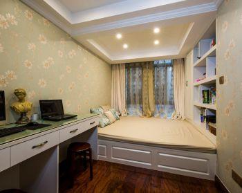 卧室黄色榻榻米美式风格装饰图片