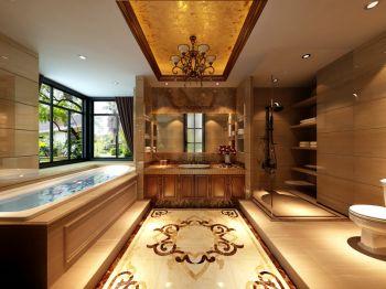 卫生间黄色地砖欧式风格装潢效果图