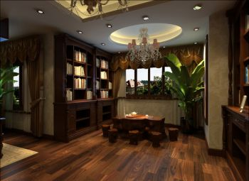 鼎世华府美式风格三居室设计效果图