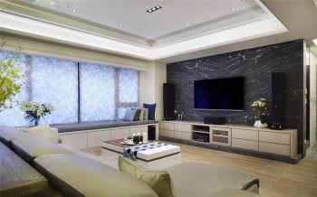 现代简约风格舒适三居设计效果图