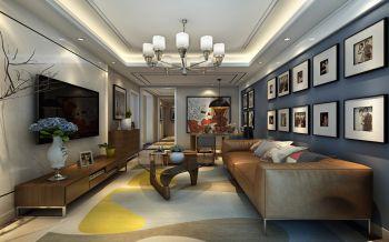 客厅吊顶现代简约风格装修效果图