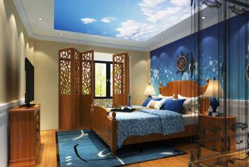 儿童房吊顶东南亚风格装修图片