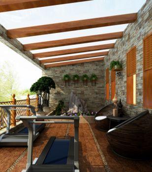 阳台吊顶东南亚风格装饰设计图片