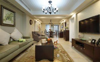 御安西苑美式风格三居室装修效果图