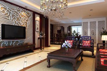 中式古典风舒适四居装修效果图