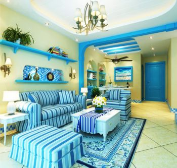 2021地中海80平米设计图片 2021地中海二居室装修设计