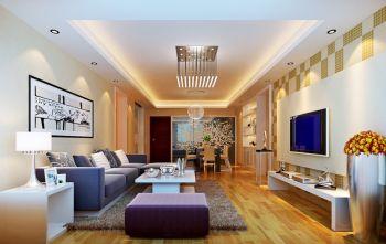 金色领域二居室家庭现代装修效果图