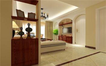 客厅隔断美式风格装潢效果图
