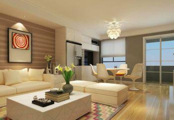 青岛米罗湾现代简约二居室装修效果图