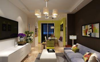 现代简约多彩家居装修效果图
