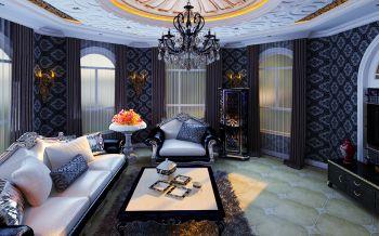 三居室家庭欧式新古典装修效果图