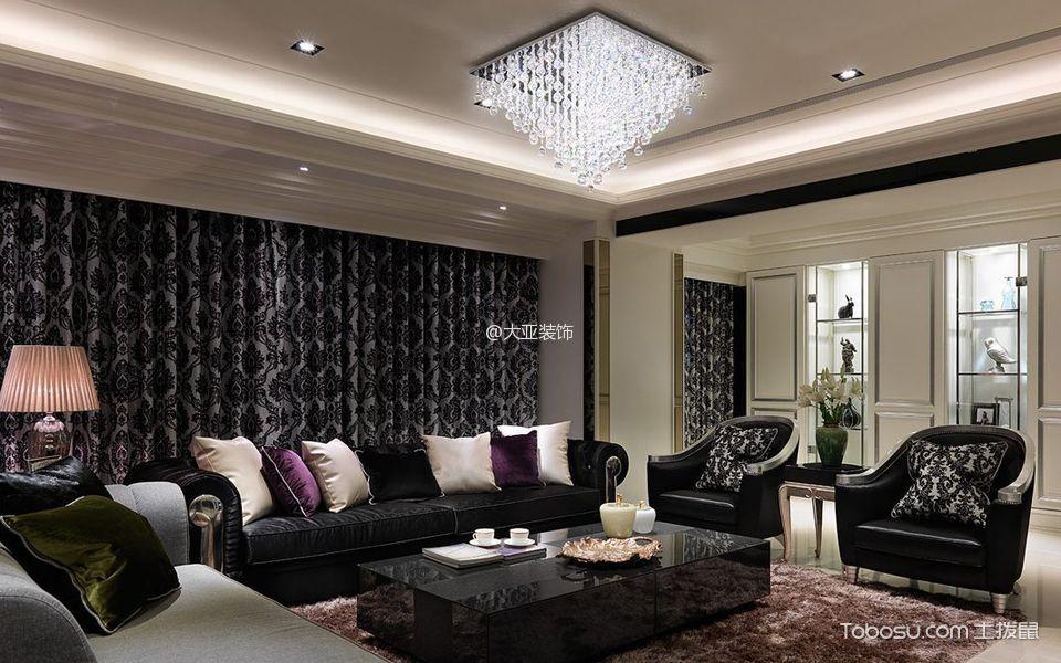 客厅 窗帘_现代古典大户型装修效果图