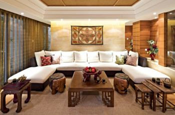 异域三居室东南亚风格装修效果图