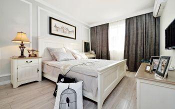 东邑阳光温馨小美式三居室装修风格效果图