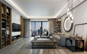 恒威君和院现代中式雅致三居室装修风格图