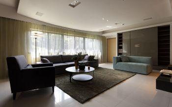 自建楼房现代简约风格三居室装修效果图