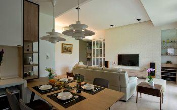 现代混搭格局两居室装修效果图