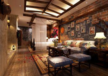 时尚酒店卧室照片墙装修图片