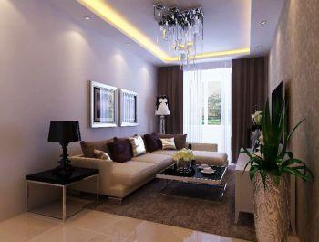 新世纪花园现代简约两室两厅装修效果图